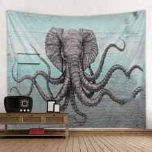 Creative Elephant Octopuses Tapestry Abstract Fantasy Animal Art Decorative Wall Hangings Tapestries For Bedroom Living Room
