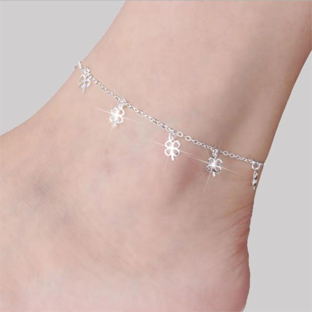 Clover Design Anklet
