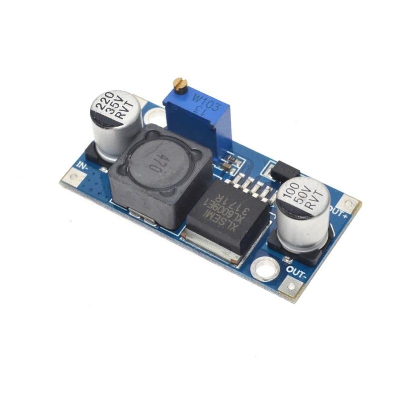 50PCS DC-DC adjustable voltage Booster module Step Up Power Converter,4A 4.5-32V to 5-55V,XL6009 displayed voltmeter