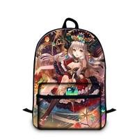 Women Cartoon Anime Laptop Backpack Under 14 Inch Notebook Cute Ballet Yoga Printed School Book Bags For Girls Computer Bagpack