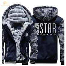 2019 Winter Warm Thicken Sweatshirts Super Hero The Flash STAR S.T.A.R. Labs Hot Sale Hoodies Men Zipper Hooded Mens Tracksuit