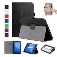 Da Lật Trường Hợp Đối Với Samsung Galaxy Tab Một A6 10.1 2016 T580 T585 SM-T580 T580N Trường Hợp Che Funda Tablet Với Người Giữ tay v