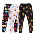 ISTider Harajuku Nueva Moda Emoji Joggers Pantalones de Chándal Del Clavo/Rokets/Arce/Pistola/Alien/Dedos Impreso pantalones para Las Mujeres/Hombres