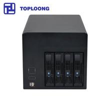 Ev depolama hot swap NAS sunucu kasası IPFS Miner 4 sürücü yuvaları Celeron J1900 anakart 4GB RAM 16GB SSD 150W güç kaynağı
