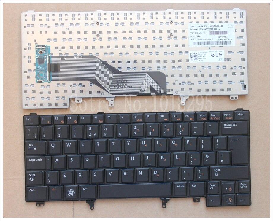 for Dell Latitude E6420 E5420 E5420M E5430 E6220 E6230 E6320 E6330 E6430 E6430s UK Laptop Keyboard MP-10H96GB6930