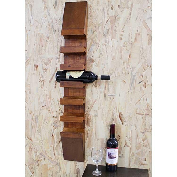 Ogromny Ogród drewna wino stojak winiarnia Europejski styl retro moda CD45