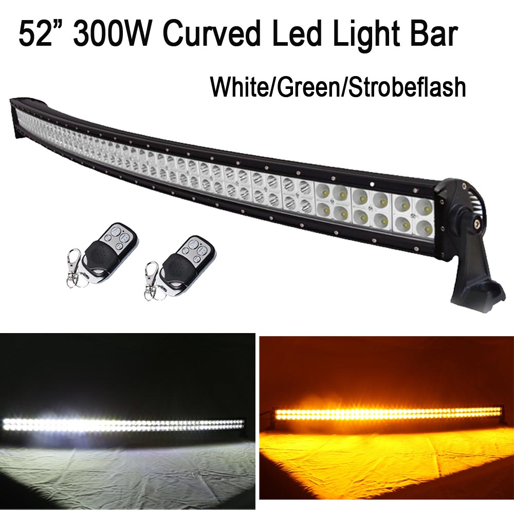 52 300W White / Amber Switched StrobeFlash Led Curved Work Light Bar Spot Flood Combo For Off-Road Driving ATV SUV Truck Jeep new 2017 panda cute baby boy romper long sleeve cotton jumpsuit baby cartoon printed rompers newborn baby boy girl clothes white