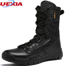 Army High Top Combat Shoes Men's Tactical Boots Autumn And Winter Men Boots Military Enthusiasts Marine Suede Stitching Canvas