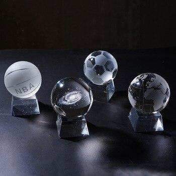 Bola de cristal transparente NBA de 10 pulgadas, artesanía de cristal DIY, accesorios para el hogar