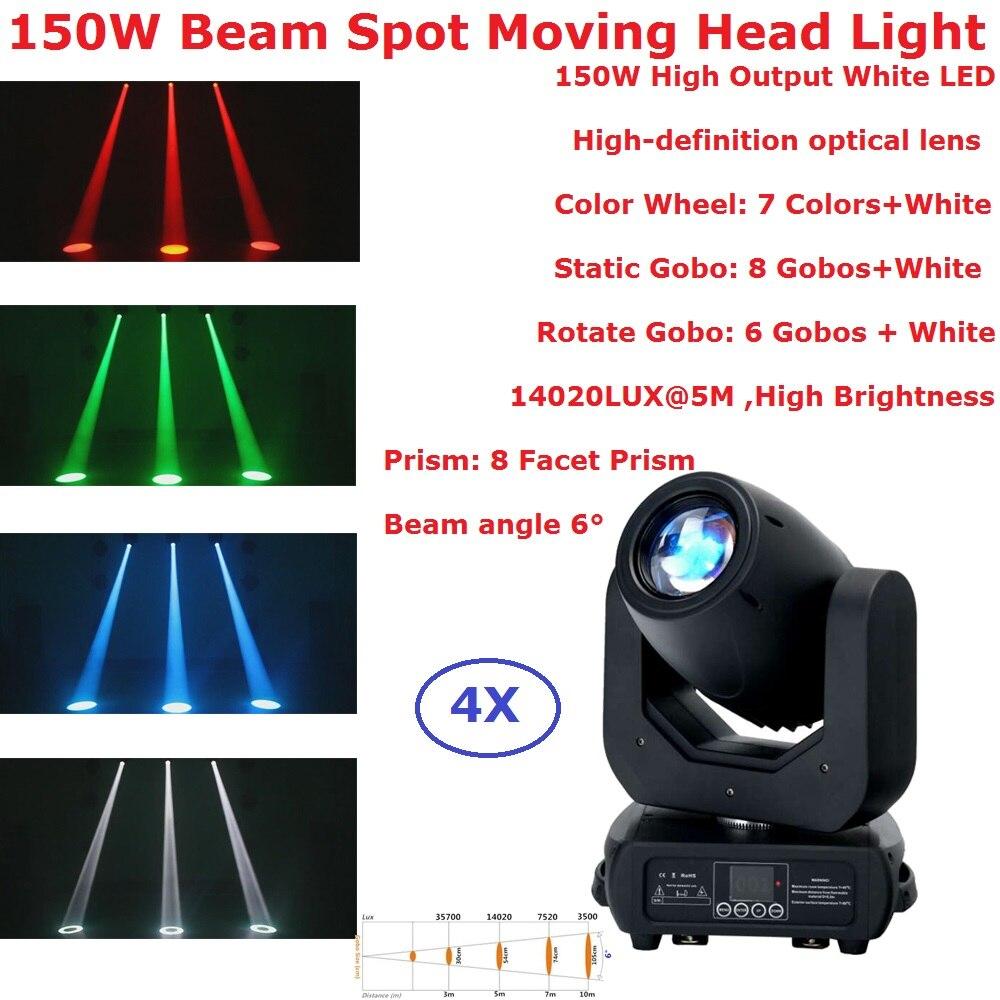 4XLot 150W LED Moving Head Spot Bühnen Beleuchtung 16/14/12/10 CHS Hohe Helligkeit 150W 8 Facet Prisma LED Disco Lichter Neue Design-in Bühnen-Lichteffekt aus Licht & Beleuchtung bei title=
