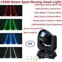 4XLot 150W LED Moving Head Spot Stage Lighting 16/14/12/10 CHS High Brightness 150W 8 Facet Prism LED Disco Lights New Design