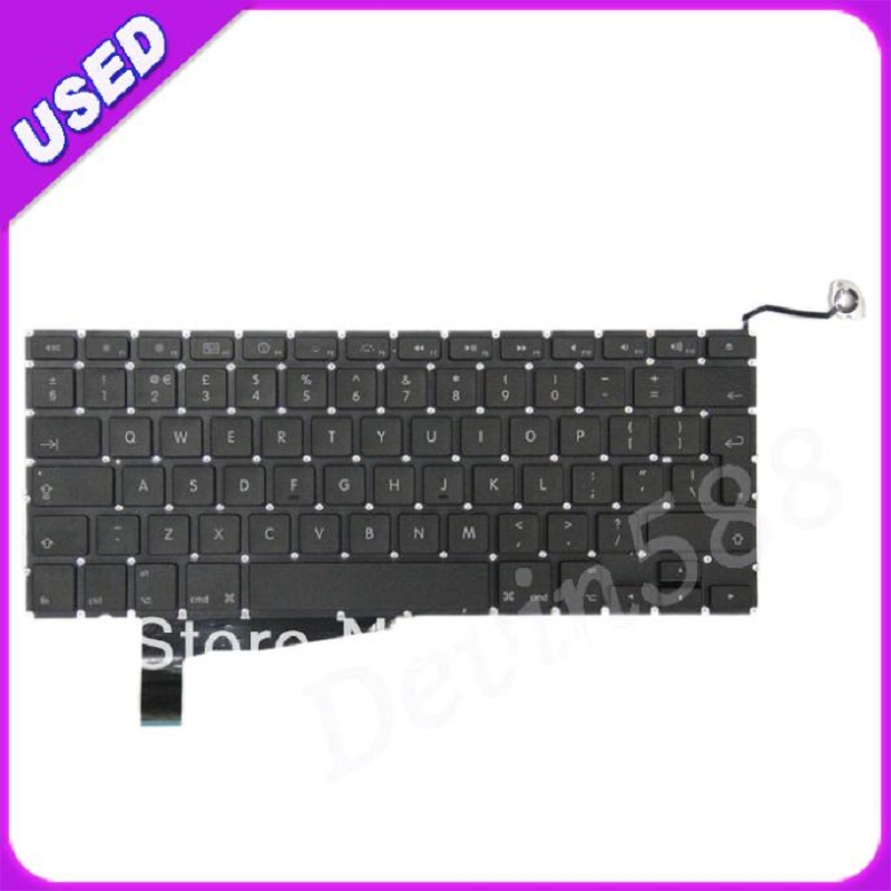 """Replace Laptop Keyboard for Macbook Pro 15.4"""" A1286 2008 Year ,UK Layout & Black Color, Tested 100% Working"""