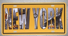 1 pc New York USA America yellow taxi subway Tin Plates Signs wall man cave Decoration Metal Art Vintage Poster