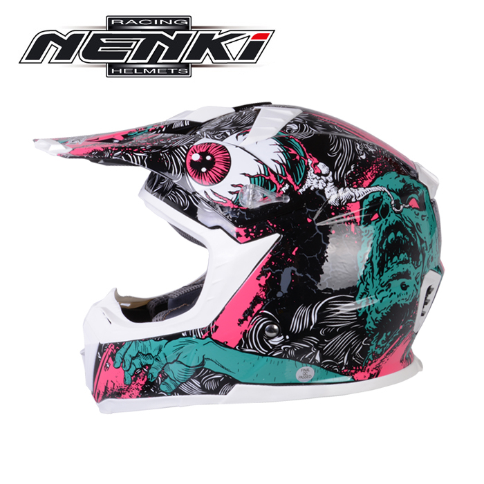 NENKI Lightweight Fiberglass Motocross Helmet Men Women Windproof Motorcycle Racing Cross-Country Helmet Motocicleta Casco Moto nenki motorcycle helmet motorcycle full face helmet men motocross helmet motorbike touring racing casco moto capacetes dot