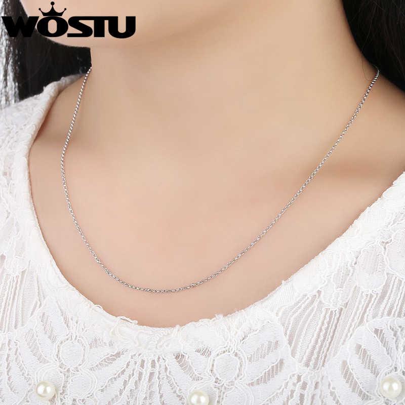 Prawdziwe 925 Sterling srebrne łańcuszki naszyjniki nadające się do wisiorek urok dla kobiet mężczyzn luksusowe S925 miłośnik biżuterii prezent SCA004