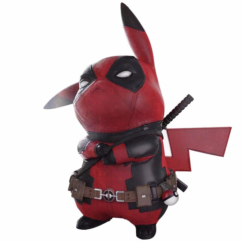 Funny Pikachu Cosplay X-men Marvel Deadpool PVC 15cm Action Figure Toys цена