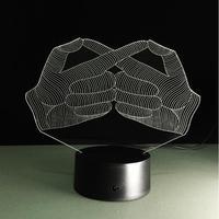 3d objet ánh sáng Cử Chỉ Bảng Đèn Thay Đổi Màu Đèn Ngủ Acrylic Flat Đèn Gia Dụng Cảm Ứng Chuyển Đổi Luminaria LED USB Lampara