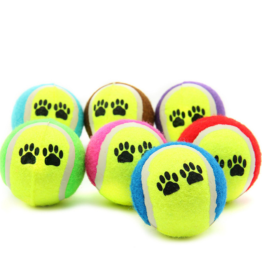Lovely pets Pet Dog Cat Toy Vogue Tennis Balls Run Catch Throw Play Funny Chew Pets Toys Drop shipping 0608