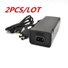 2 шт./лот ЕС/США Plug Адаптер ПЕРЕМЕННОГО ТОКА Зарядное Устройство 220 В Зарядки Зарядка Мощность Шнур питания кабель для Microsoft XBox 360 x-360 Стройная 135 Вт