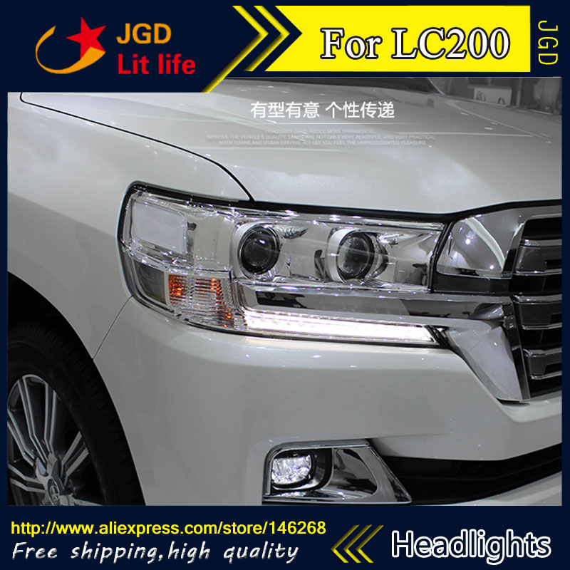 high quality ! HID LED headlights headlamps HID Hernia lamp accessory products case for Toyota LAND CRUISER LC200 Car styling the giver