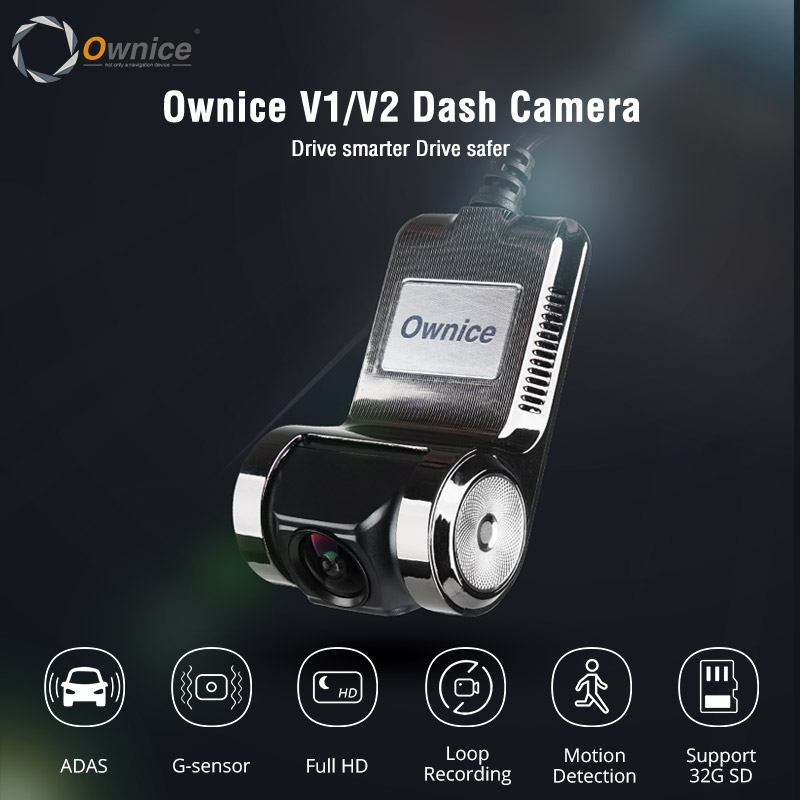 Ownice V1 V2 ADAS LDWS Car DVR Full HD 1080P Car Recorder for Car DVD Player Navi USB Connection Control View through Radio