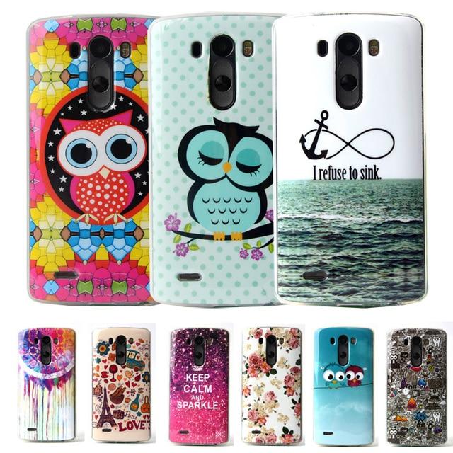 Para LG Funda de Silicona Lindo de la Historieta TPU Caso Suave Para LG G3 fundas LG G3 Cubierta Caso Protector Marca Teléfono Celular para LG G3 D855