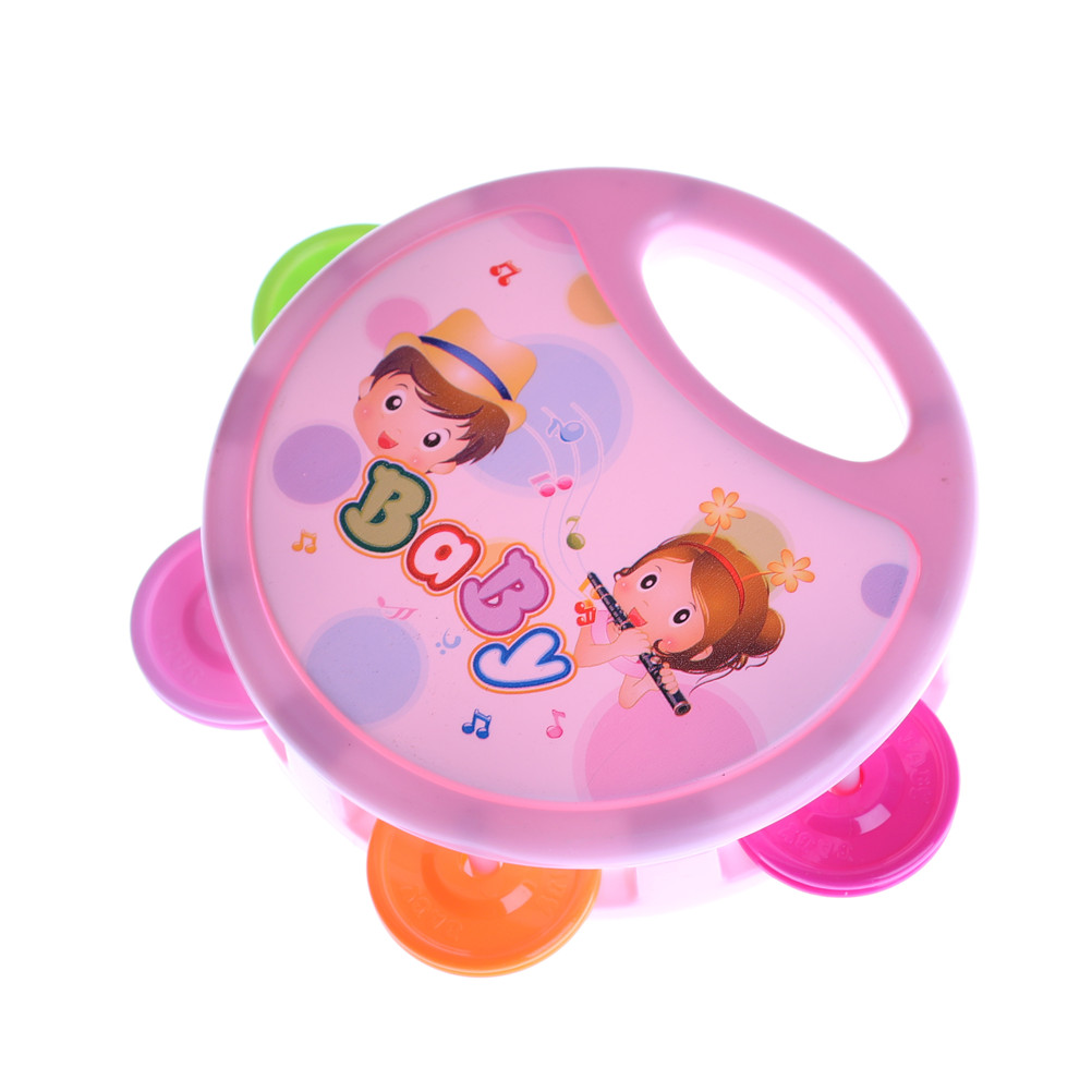Cute Baby Kids Musical Tambourine Beat Instrument Educational Handbell Clap Drum Toys Infant Early Educational Baby Rattles Toys