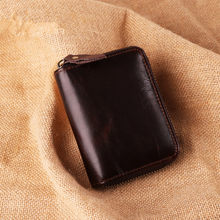 Business Card Holder Men Avoid RFID Wallet Bank/ID/Credit Card Holder Wallet Black/coffee/brown Cow Leather Anti RFID Card Case(China)
