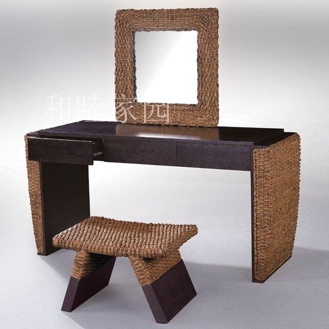 El nuevo especial de mimbre silla muebles de rattan mimbre espejo ...