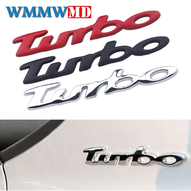 Turbo 3D Metal Car Emblem Sticker Car Styling Motorcycle Badge Silver