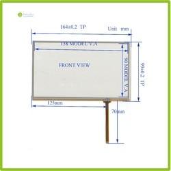 ZhiYuSun Atacado 2 Pçs/lote HL-070015 164mm * 99mm 7 linhas de 4 polegadas painel da tela de toque 164*99 Sensor de vidro Compabible para GPS DO CARRO