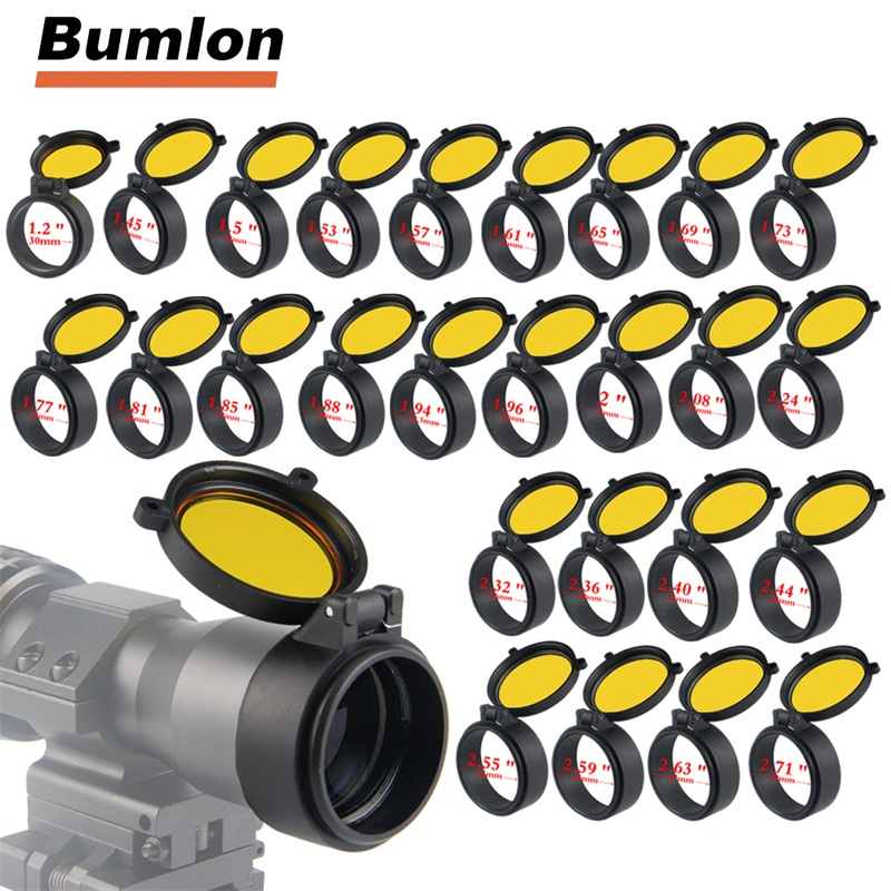 25.5~62mm Flip Up Lens Cover Caps Rifle Scope Telescopic Sights  Available RASK