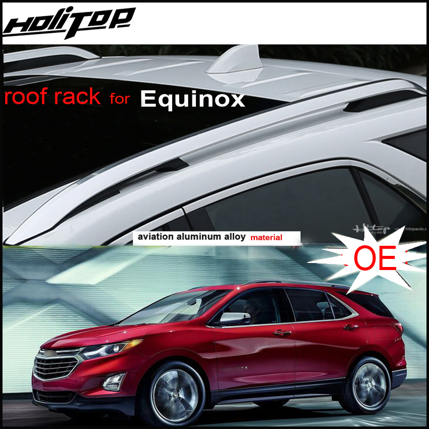 New arrival for Chevrolet Equinox roof rack roof rail cross bar 2016-2018. aviation aluminum alloy,2pcs/set,Asia free shipping.