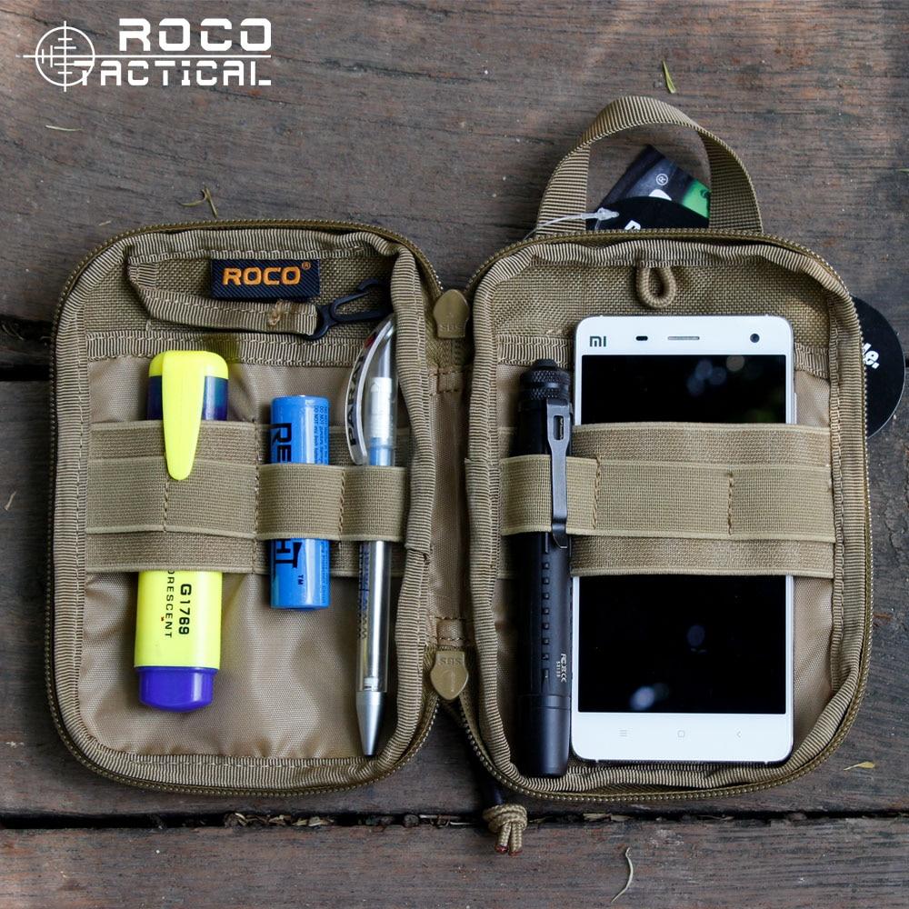 OCanta taktike MOLLE të papërshkueshëm nga uji ROCOTACTICAL Qese Taktike MOLLE EDC Army Fan Sport Belt, Baganta e Ushtruesit Ushtarak Pocket Organizer Cordura 1000D Najlon