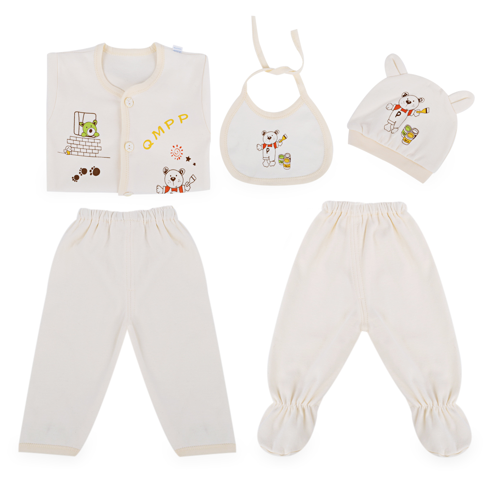 Newborns Clothing Sets 2018 Autumn Style Infant Baby Boys Girls Clothes Newborn Toddler Outfits 5pcs Suit