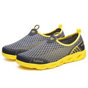 Image 4 - Männer Casual Schuhe 2019 Sommer Mode herren Schuhe Mode Atmungs Slip Auf Mesh Schuhe Weiche Komfortable Größe 45