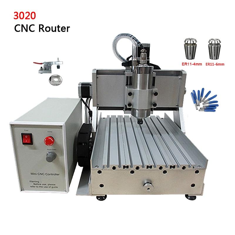 Bricolage CNC routeur en métal 3 axes Machine de découpe Laser 3020Z-VFD 800 W broche refroidie à l'eau avec Port USB