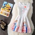 Spring Summer XL New Plus Size Women Print Floral Vest Dress Sleeveless A Line Party Fashion Dresses Vestido De Festa Hot MZ1468