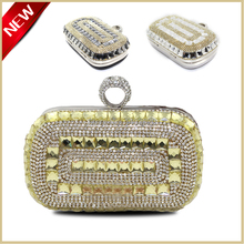 Super Bling Clutch Tasche Tschechischen Strass Eveing Fashion Kupplung Handtasche mit Schulter Kette GOLD/Silber/schwarz
