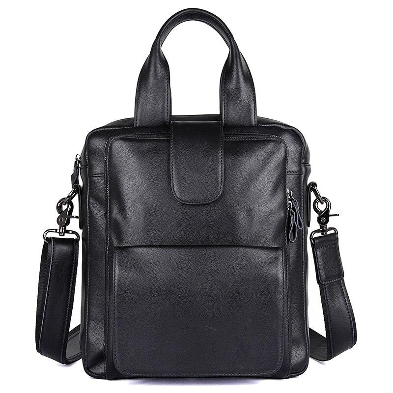 JMD натуральная кожа Для мужчин небольшой Hnadbag сплошной черный сумка Мода Crossbody Сумка Высокое качество сумка 7266A
