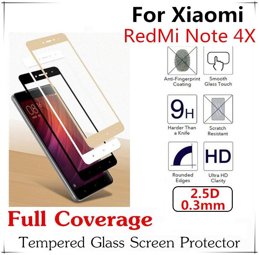 bilder für 10 stücke 2.5D Vollständige Abdeckung Aus Gehärtetem Glas Für Xiaomi Redmi Hinweis 4X Displayschutzfolie Explosionsgeschützte Full Screen Schutzfolie