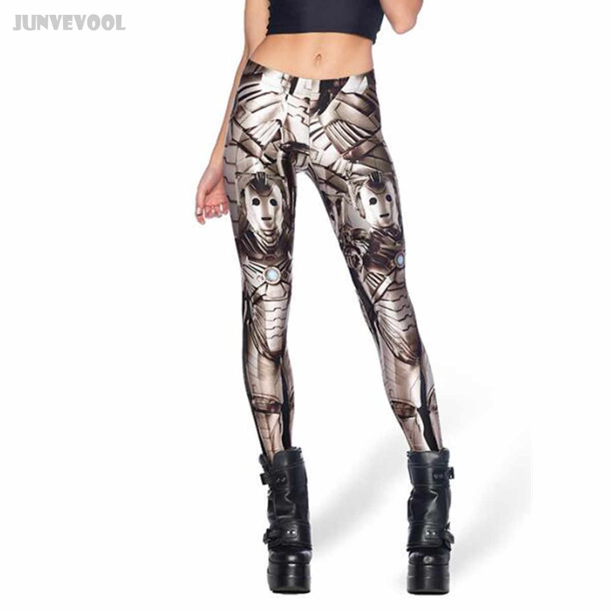 86530caaf68d5 Workout Leggings Fitness Women Gyms Pant Sexy 3D Iron Steel Robot Print  Women's Stretch Skinny Legging