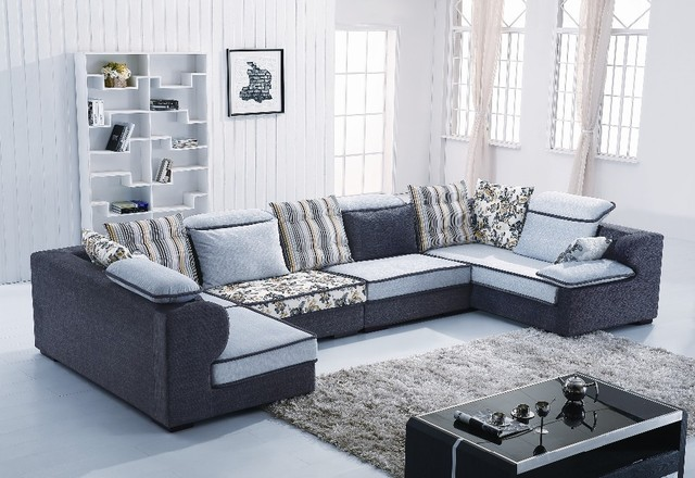 Home Australia U Shape Sectional Fabric Sofa B1011 # Living Room L ...