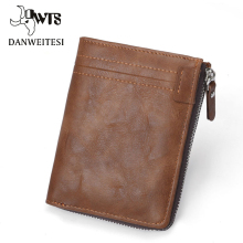 [DWTS] men wallet fashion  leather purse with coin pocket ne