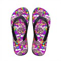 Модный симпатичные девушки в тапочки летние сандалии дамы красочные кошка печать пляж вьетнамках стильные тапочки для женщин сандалии