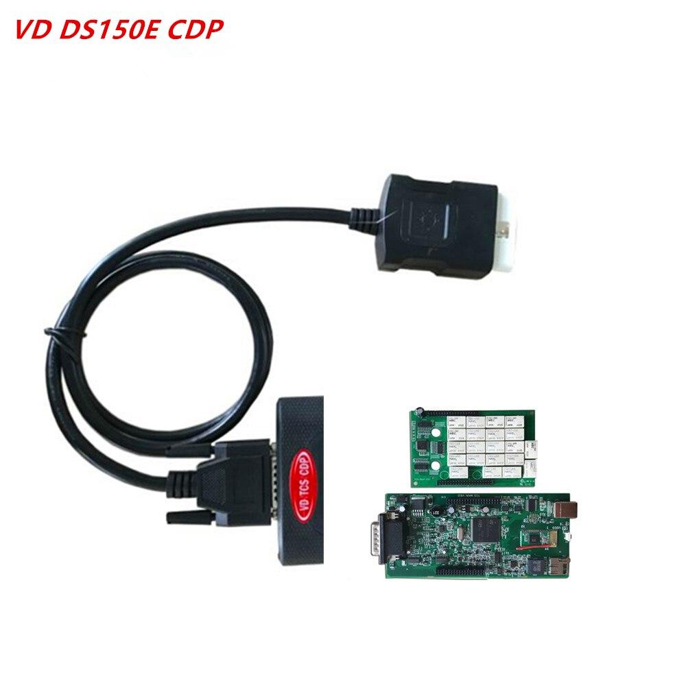 Черный с функцией Bluetooth v3.0, зеленая печатная плата 2015,3 с генератором ключей и 2016,0 бесплатным активным VD DS150E CDP, диагностический сканер для ав...
