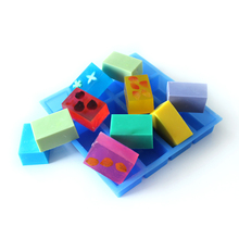 12-Cavity Silicone Soap Mold Handmade Rectangular Loaf Bar Mould