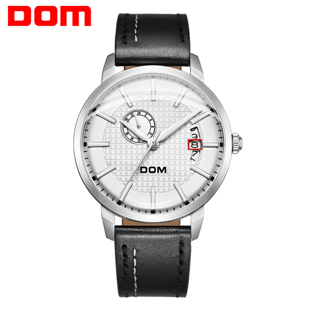 DOM Sport Watch Automatic Mechanical Watch Men Fashion Leather Business Waterproof Wristwatches Top Brand Mens Watches M-8111