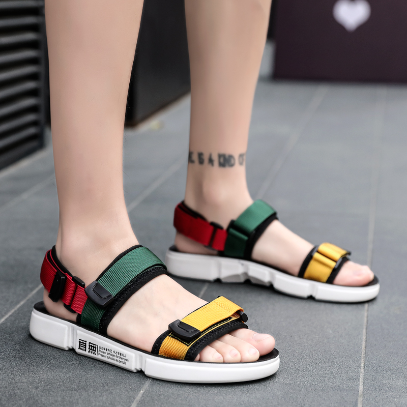 UNN Teenager Summer Casual Shoes New Men Sandals Gladiator Sandals Open Toe Platform Outdoor Beach Sandal Rome Footwear Black Сумка