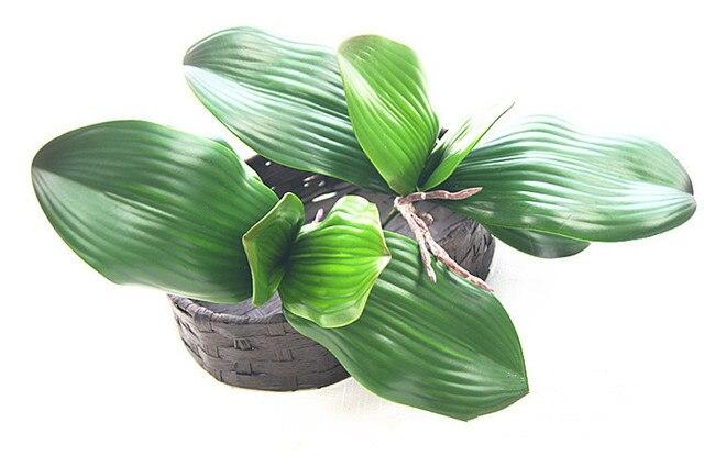 Бесплатная доставка реального прикосновения зеленоцветковая листья искусственные суккуленты украшение дома